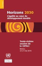 Horizons 2030: l'égalité au coeur du développement durable. Synthèse