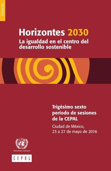 Horizontes 2030: la igualdad en el centro del desarrollo sostenible. Síntesis