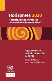 Horizontes 2030: a igualdade no centro do desenvolvimento sustentável. Síntese