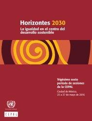 Horizontes 2030: la igualdad en el centro del desarrollo sostenible