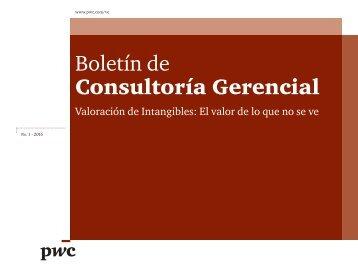 Boletín de Consultoría Gerencial