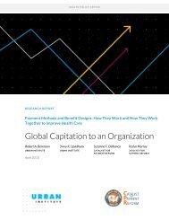 Global Capitation to an Organization