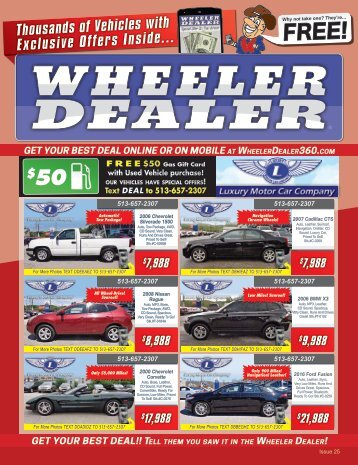 Wheeler Dealer Issue 25, 2016