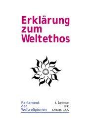 Weltethos-Parlament der Weltreligionen Chicago 4.9.1993