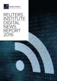 REUTERS INSTITUTE DIGITAL NEWS REPORT 2016