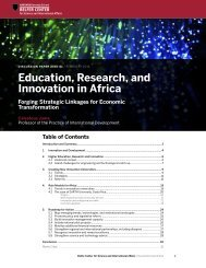 Education Research and Innovation in Africa