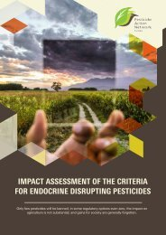 Impact assessment of the criteria for endocrine disrupting pesticides