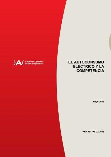 EL AUTOCONSUMO ELÉCTRICO Y LA COMPETENCIA