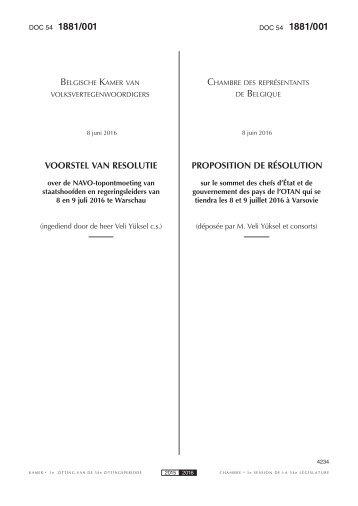 1881/001 1881/001 BELGISCHE KAMER CHAMBRE BELGIQUE