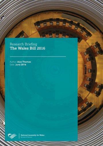 The Wales Bill 2016