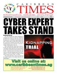 Caribbean Times 25th Issue - Wednesday 8th June 2016