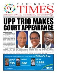 Caribbean Times 26th Issue - Thursday 9th June 2016