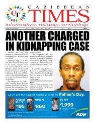 Caribbean Times 27th Issue - Friday 10th June 2016