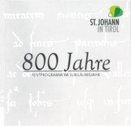 800 Jahre St. Johann in Tirol