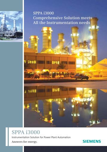 SPPA i3000 Answers for energy. - Siemens