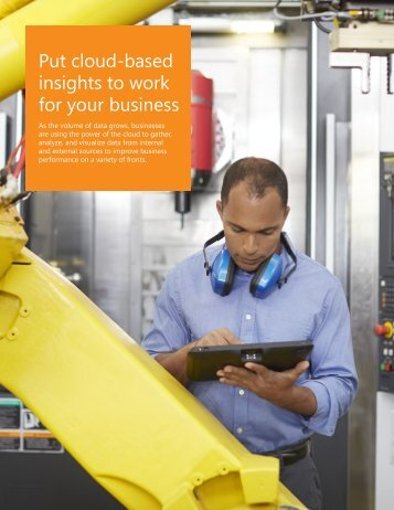 Put cloud-based insights to work for your business