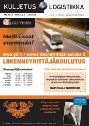 Kuljetus & Logistiikka 3 / 2016