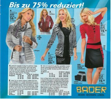 Каталог Bader весна-лето 2016. Заказ одежды на www.catalogi.ru или по тел. +74955404949