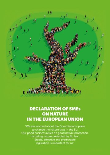 DECLARATION OF SMEs ON NATURE IN THE EUROPEAN UNION