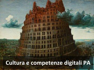 Cultura e competenze digitali PA