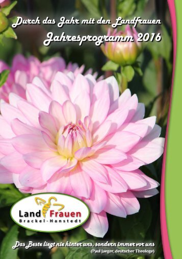 Landfrauen Brackel-Hanstedt - Program 2016