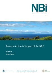 Business Action in Support of the NDP