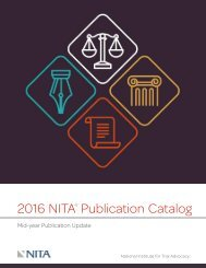 2016 NITA Publication Catalog