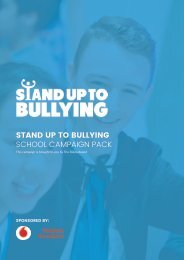 STAND UP TO BULLYING SCHOOL CAMPAIGN PACK