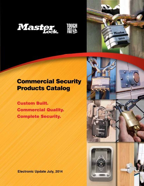 MasterLock - Commercial - Security - Product - Catalogue 2014-10-06