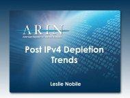 Post IPv4 Depletion Trends