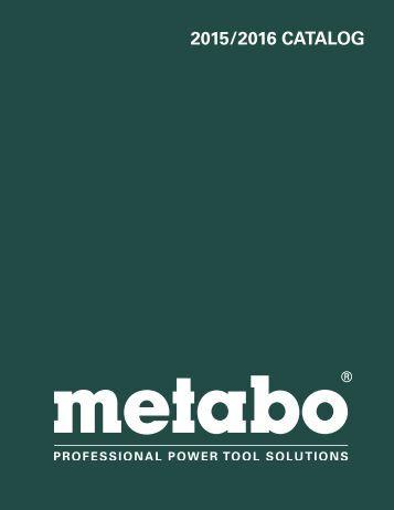 Metabo - Catalogue 2015-2016