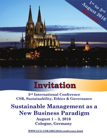Sustainable Management as a New Business Paradigm