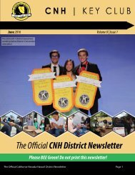 The Official CNH District Newsletter