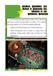Velge, Spille, Ha Fred i Sinnet og Vinne i en Online Casino