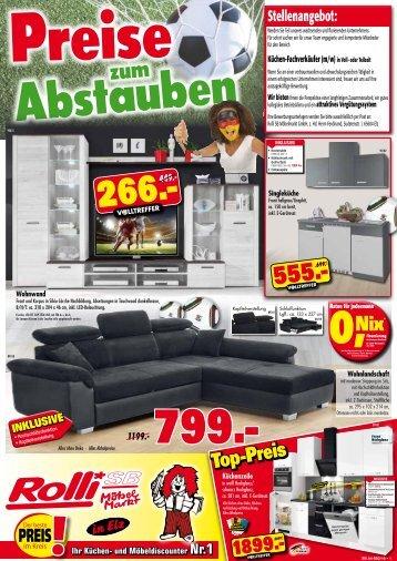 Preise zum Abstauben bei Rolli SB Möbelmarkt!