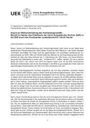 Impuls zur Weiterentwicklung des ... - reformiert-info.de