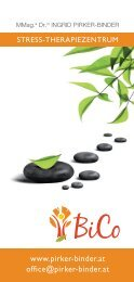 BiCo Stress Therapiezentrum Info-Folder