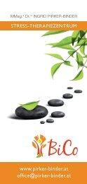 BiCo Stress-Therapiezentrum Folder