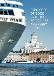 ESPO CODE OF GOOD PRACTICES FOR CRUISE AND FERRY PORTS