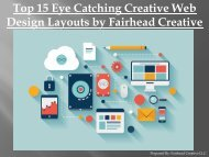 Top 15 Eye Catching Creative Web Design Layouts by Fairhead Creative