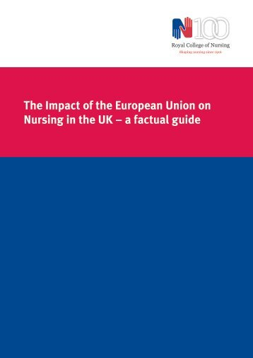 The Impact of the European Union on Nursing in the UK – a factual guide