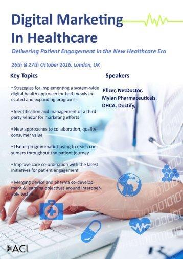 Digital Marketing in Healthcare London 26th & 27th October