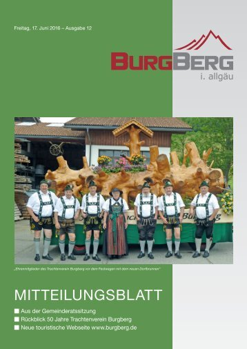 Burgberger Mitteilungsblatt vom 17. Juni 2016