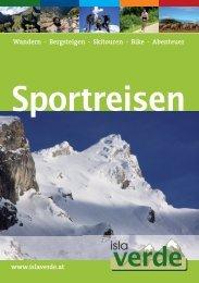 Islaverde Sportreisen Katalog