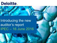 Introducing the new auditor's report IPEC – 16 June 2016