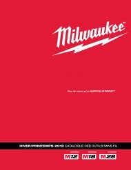 Milwaukee - Catalogues sans-fil FR