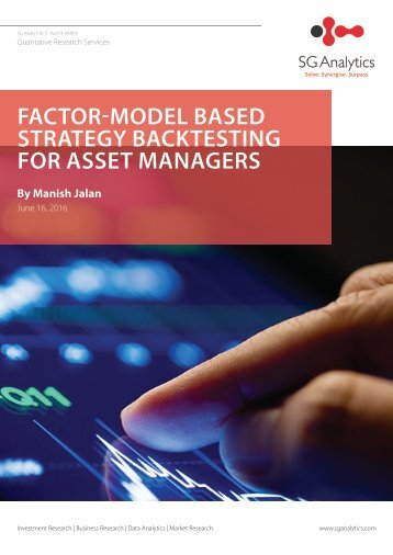 FACTOR-MODEL BASED STRATEGY BACKTESTING FOR ASSET MANAGERS
