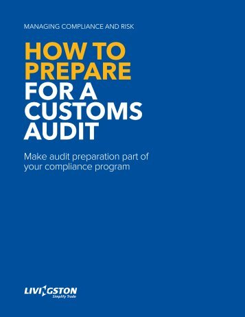 How to prepare for a Customs audit