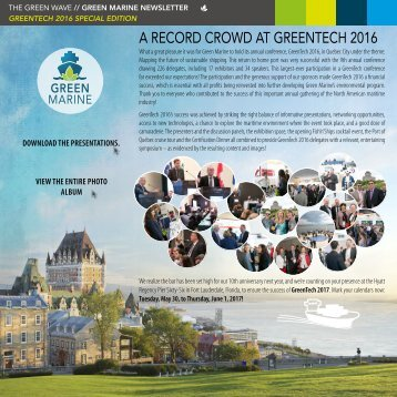 A RECORD CROWD AT GREENTECH 2016