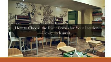 Choose the Right Colors for Your Interior Design